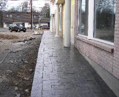 stamped concrete office building