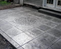 24 x 24 stamped  concrete patio.