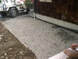 3/4 compacted crushed stone and wire